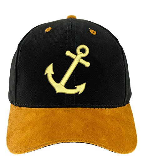 4sold Kapitänsmütze Cap Captain Anker Ancient Mariner, Captain Cabin Boy Crew First Mate Yachting Baseballmütze Inschrift Schriftzug Schwarz Weiß rot Weiss Army Military...