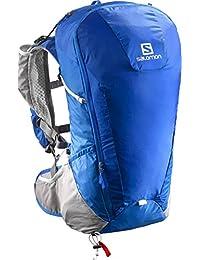 Salomon Peak 20 - Mochila 2 en 1, impermeable, 20 L, portador de bastones, 48x18x26 cm, azul real