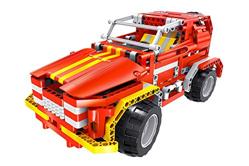 Teknotoys 85000011 - Active Bricks RC 2in1 SUV und Roadster, rot (Rc Lego-roboter)