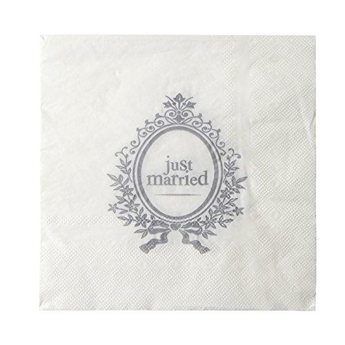 NEU Servietten Married Ornament, weiß, 20 Stk.