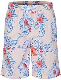SoulStar Soul Star Men's Hawaiian Floral Print Swim Shorts