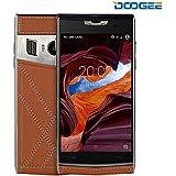 """Móviles y Smartphones Libres, DOOGEE T3 Teléfono Móvil Libre Baratos 4G- Pantalla 4.7"""" HD - Octa Core 1.3GHz - Android 6.0 - 3GB RAM + 32GB ROM - Cámara de 5MP + 13MP - Batería de 3200mAh - Trasera de Cuero, HotKnot, Dual ID, Dual SIM - Marrón"""