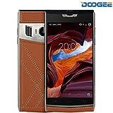 Smartphone ohne Vertrag, DOOGEE T3 Dual SIM Android 6.0 Handys - WCDMA 3G 4G / LTE FDD - 3200mAh Dual-Bildschirm Outdoor Mobile (4.7 Zoll + 0.96 Zoll) - 5MP + 13MP Kameras und 3GB RAM + 32GB ROM - Braun