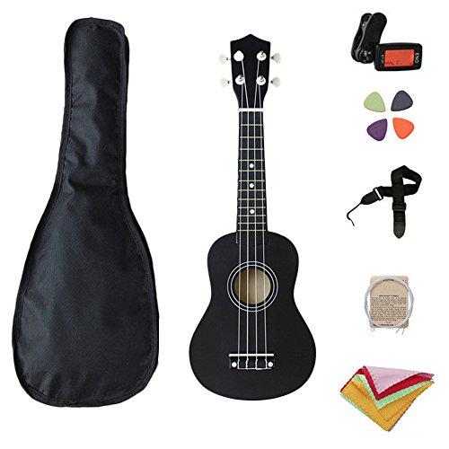 "muxiao 21"" Ukulele Kit Für Anfänger, Ukulele Gitarre 21 Zoll Holz Musikinstrumente Schule Portable All In One Anfänger"