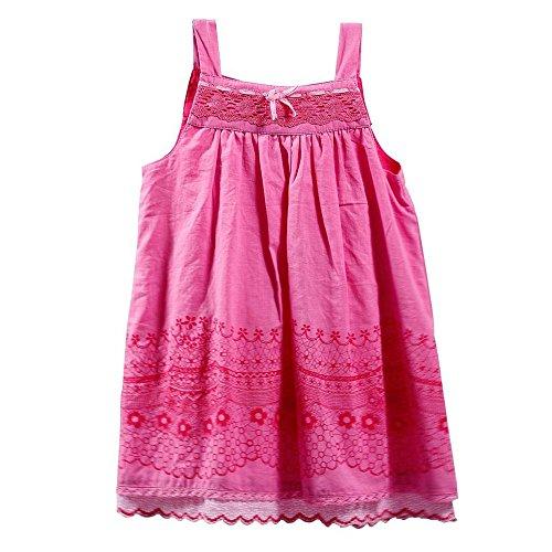 Vestito da ragazza rosa colazione in 100% cotone, taglie 12,18,24,36mesi) 36 meses