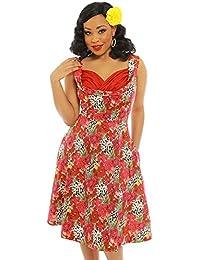 961d59e4fc40 Lindy Bop Ophelia' Floral Leopard Print Swing Dress