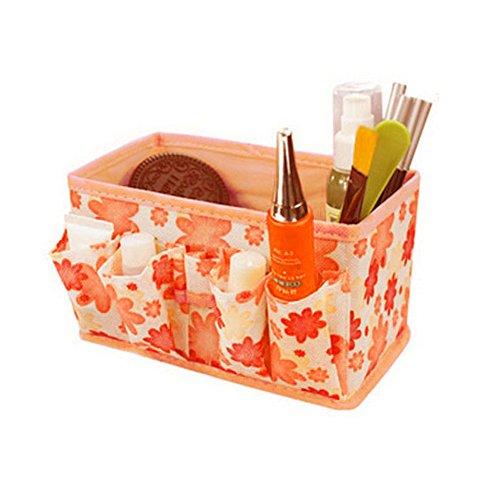 Beauty Case, Culater® trucco cosmetico Storage Box Bag brillante Organizzatore pieghevole stazionario Container (arancia)