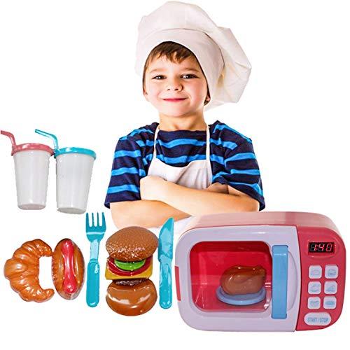 Sunbary microondas Juguete luz Sonido microondas Juguete niños - Chef Horno eléctrico multifunciones para niños 2 3 4 5 6