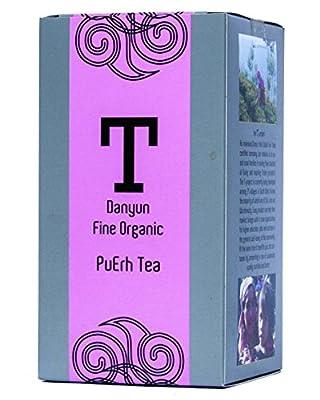 Danyun Fair Trade Co. Organic Yunnun Imperial Pu erh Le thé noir, le commerce équitable Le thé chinois fait avec Pu Puissantes feuilles de thé - 60 Gram Box (30 sachets de thé)