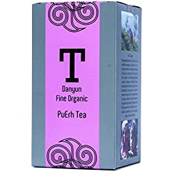 Danyun Fair Trade Co. Bio Yunnun Imperial Pu erh Schwarzer Tee, Fairer Handel Chinesischer Tee mit Bio Pu erh Tee Blätter - 60 Gramm Box (30 Teebeutel)