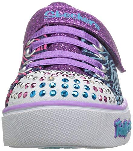 Skechers Sparkle Glitz-Shiny Spirit, Scarpe da Ginnastica Basse Bambina Multicolore (DMLT)