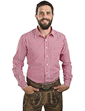 Trachtenhemd Herren Zugspitze kariert - Karohemd Oktoberfest Hemd Lederhose
