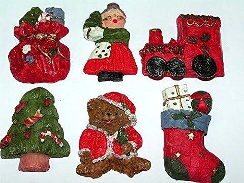 6`er Set Weihnachts Ornamente im Mix tolle Geschenkedeko zum verarbeiten Weihnachtsdesign DEKO Weihnachten 336