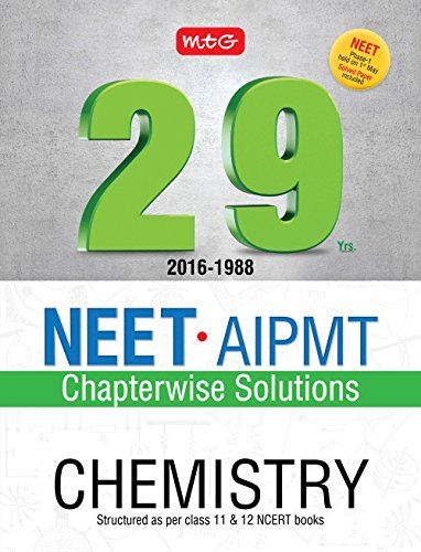 29 Years NEET-AIPMT Chapterwise Solutions - Chemistry For Rs. 130