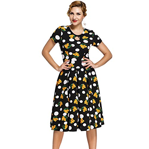 PU&PU Femmes Casual / Sortie Fashin Impression Col rond Une ligne de robe, à manches courtes haute taille as figure