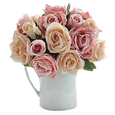 Hosaire Fleurs artificielles de Bouquets Rose Fleur de simulation de