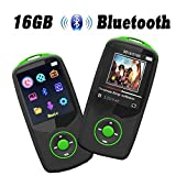 MP3-Player 16 GB, cfzc MP3-Player mit Bluetooth tragbare verlustfreie MP4 Musik Player mit FM Radio Voice record-support 64 GB Micro SD Kartenslot grün