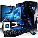 "VIBOX Sharp Shooter 7XW Gaming PC Computer with War Thunder Game Voucher, Windows 10 OS, 22"" HD Monitor (4.0GHz AMD FX Quad-Core Processor, Nvidia GeForce GTX 1050 Graphics Card, 16GB RAM, 2TB HDD)"