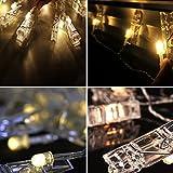 Locisne 20,6 pollici USB alimentato da 45 LED luci a forma di stringa di foto (bianco caldo) - 45 clip foto per interno / esterno decorare per appendere le immagini, note, grafica (Luci a clip)