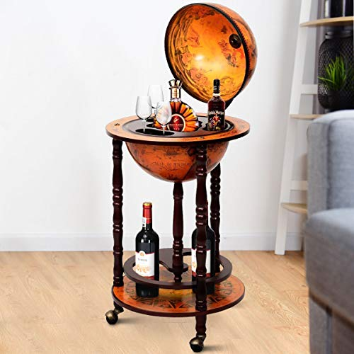 Globusbar Globus Bar Minibar Hausbar Weltkugel Cocktailbar Dekobar Tischbar NEU - 4