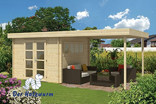 28 mm Gartenhaus Dellinger ca. 600x300 cm (Grau imprägniert)