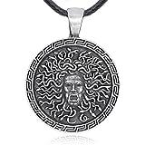 Llords Schmuck Meduse Anhänger Halskette, feinster Zinn Metall Modeschmuck
