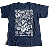 A002-220n Combi Abduction Herren T-Shirt Alien UFO Save Your Combi They Come Comics Space Geek Classic(Large,Navy)