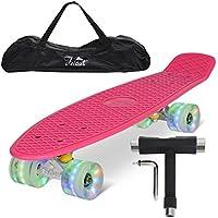 "Feldus 22"" Retro Skateboard Mini-Cruiser Komplett Fertig Montiert Board mit Tasche und T-Tool"