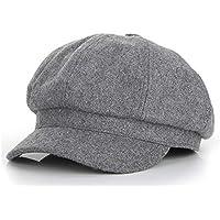 GHC Gorras y Sombreros Sombrero de otoño Invierno Moda para Mujer Sombrero Octogonal Casquillo de Boina Pintor británico Sombrero Tamaño 56-59 CM (Color : Gris, tamaño : 56-58cm)