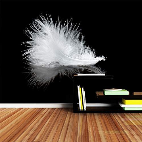 Wxlsl 3D Tapete Moderne Große Tapete Schwarz Weiß Feder Einfache Linie Wandmalereien Papier Für Kinder Wohnzimmer Kunst-350cmx256cm