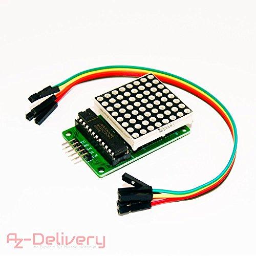 AZDelivery MAX7219 8x8 1 Dot Matrix MCU LED Anzeigemodul für Arduino (Dot-matrix-led)