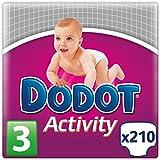 Dodot Activity, Talla 3, 210 pañales