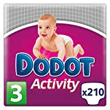 Dodot Activity, Talla 3, 210 pañales