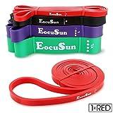 EocuSun Bande Élastique de Résistance, 4 Niveaux de Force, Bande Elastique Fitness en Latex pour Yoga, Musculation,...