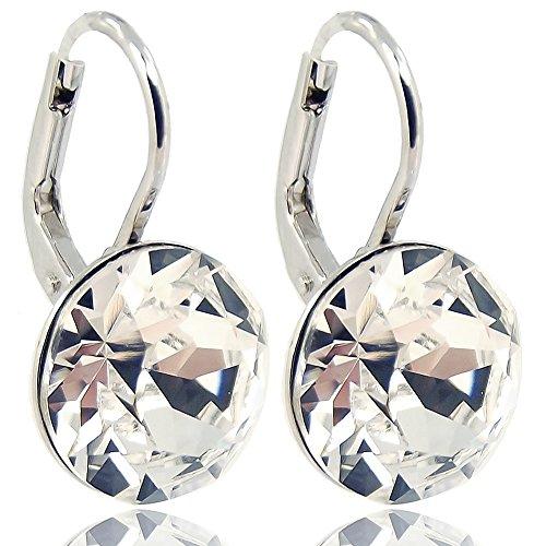 Ohrringe mit Kristallen von Swarovski Silber Viele Farben NOBEL SCHMUCK