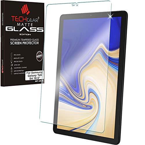 TECHGEAR Matt Panzerglas kompatibel mit Samsung Galaxy Tab S4 10,5 (SM-T830 Serie) - Matte Blendschutz Panzerglas Auflage, Original-gehärtetes Glas-Displayschutzfolie -