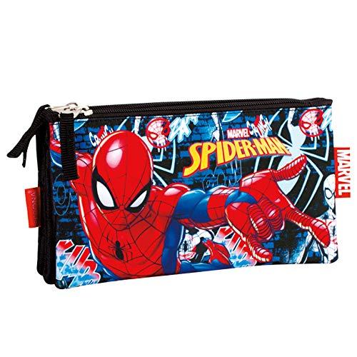 Spiderman Radioactive - Estuche portatodo Triple (Perona 55772)