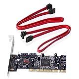 SIENOC 4 SATA SERIAL ATA PCI CONTROLLER RAID E / A-Karte PC + Kabel
