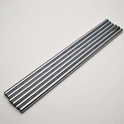 2pcs/lot CNC lineare asta cromato diametro esterno 12mm L 400mm WCS rotonda in acciaio Rod Bar cilindro lineare ferroviario