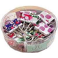 homiki un paquete Colorido Mini pinzas de metal de cartón oficina Organiser papel pinzas clips suministros