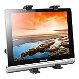 kwmobile Tablet Kopfstützenhalterung für Lenovo Yoga Tablet 10 HD+ Schwarz - Auto KFZ Kopfstütze Tablethalterung