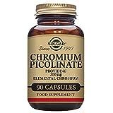 Solgar Chromium Picolinate 200 µg 0866, Suplemento de Picolinato de cromo, 90 Cápsulas