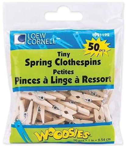 Woodsies Tiny Spring Clothespins-Natural 1