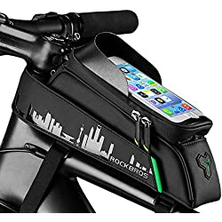 """Aolfay Rockbros Telaio Bicicletta per iPhone Samsung Smartphone Sacchetto Borsa Anteriore Bici Borsa Tubo per Telefono sotto di 6.0"""" Schermo"""