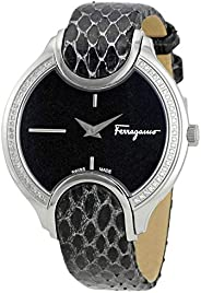 Salvatore Ferragamo Women's FIZ070015 Signature Analog Display Quartz Black W