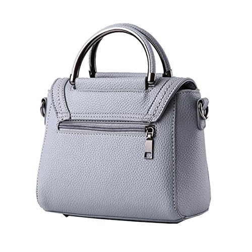 WU Zhi Damen Wild Messenger Bag Packet Großkapazität Multifunktions Schultertasche Handtasche Grey