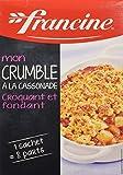 Francine Préparation pour Crumble à la Cassonnade - Lot de 2...