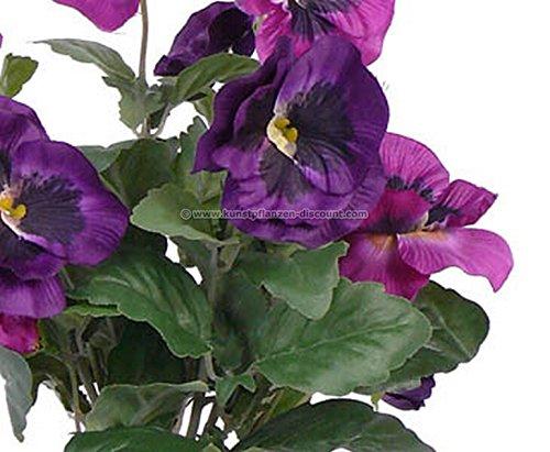 Stiefmütterchen Kunstblumen Busch mit 7 violetten Blüten, 33cm – Kunstpflanze Kunstbaum künstliche Bäume Kunstbäume Gummibaum Kunstoffpflanzen Dekopflanzen Textilpflanzen