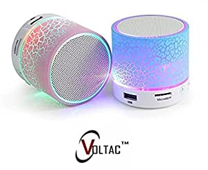VOLTAC` ™ Mushroom Rechargeable Portable Bluetooth speaker with SD Card Slot and FM Compatible for all Android/Iphone Mobiles - Assorted Color Pattern #158803