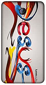Timpax Protective Armour Case Cover. Multicolour Printed Design : Abstract I Love Jesus.Exactly Design For : Micromax A106 Unite 2